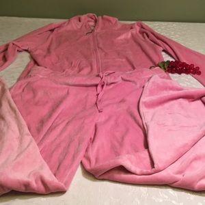 Blue Star large 12/14 pink track suit